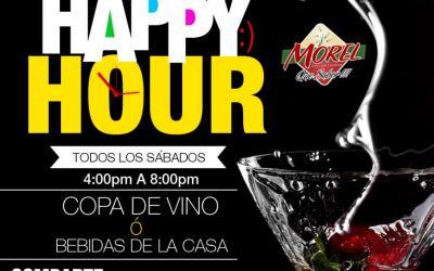 Happy Hour Todos los Sábados de 4:00pm á 8:00pm